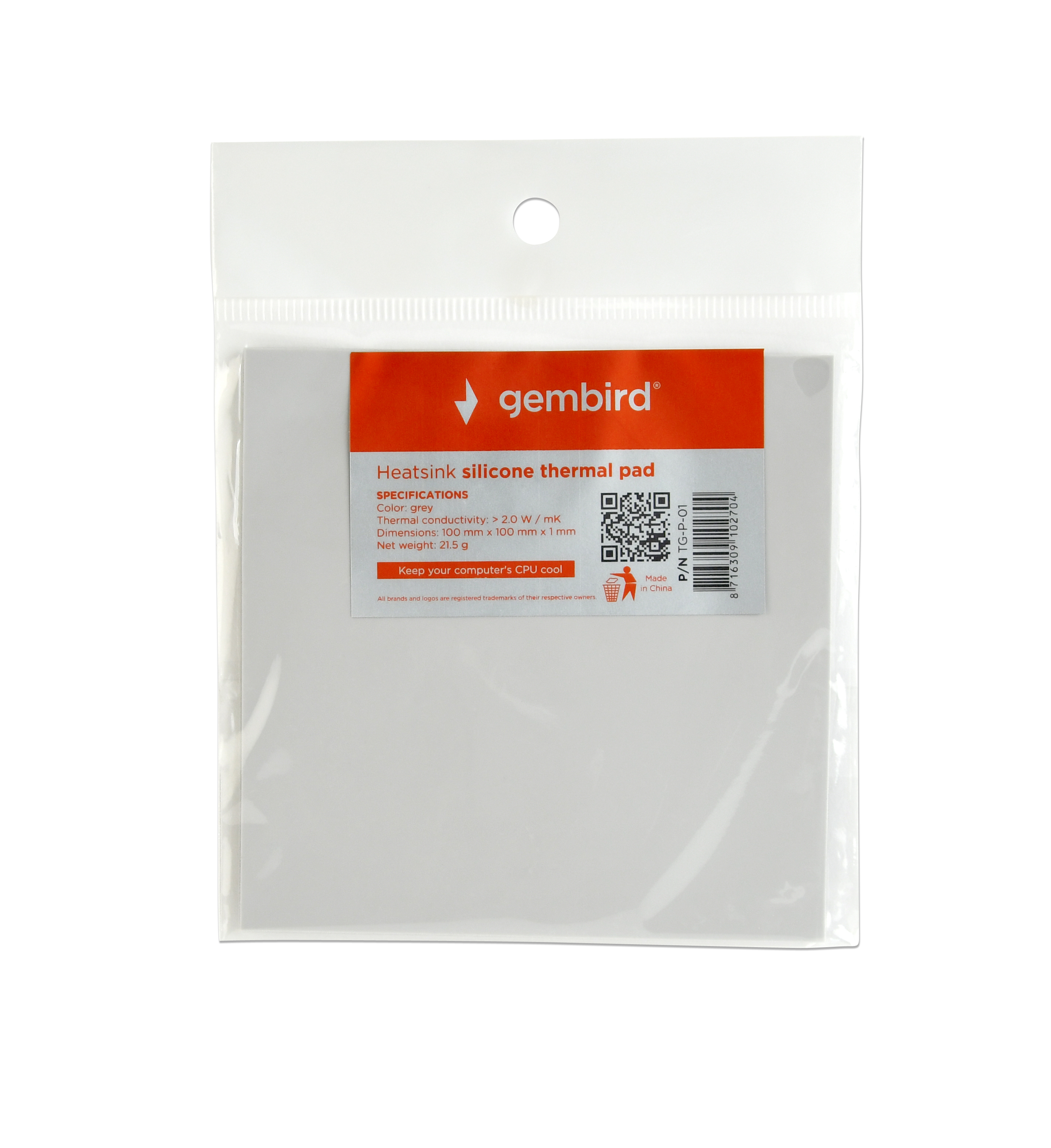 Heatsink Silicone Thermal Pad 100 X 1 Mm Tg P 01 Id Cooling 11 Hi Res Photos